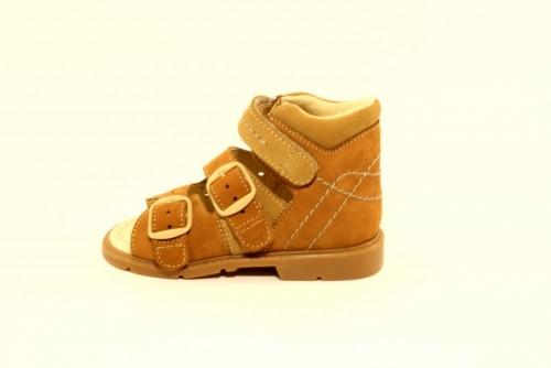 Supykids MILLA detské supinované sandále na suchý zips hnedá 23-27