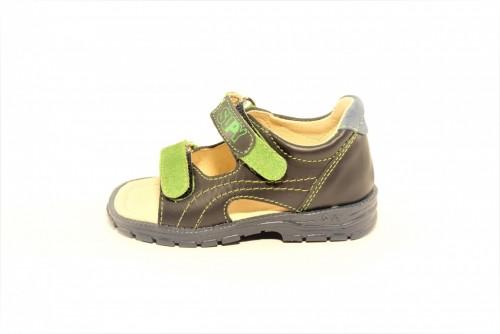Supykids MIMI detské supinované sandále na suchý zips modro-zelené 20-30
