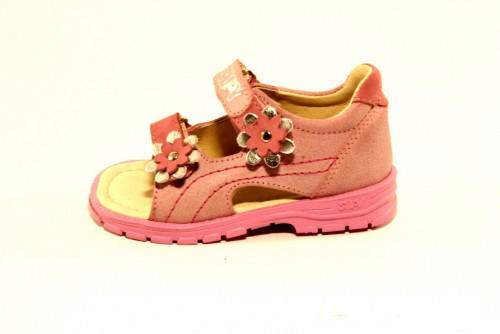Supykids MIMI detské supinované dievčenské sandále na suchý zips ružové 20-30