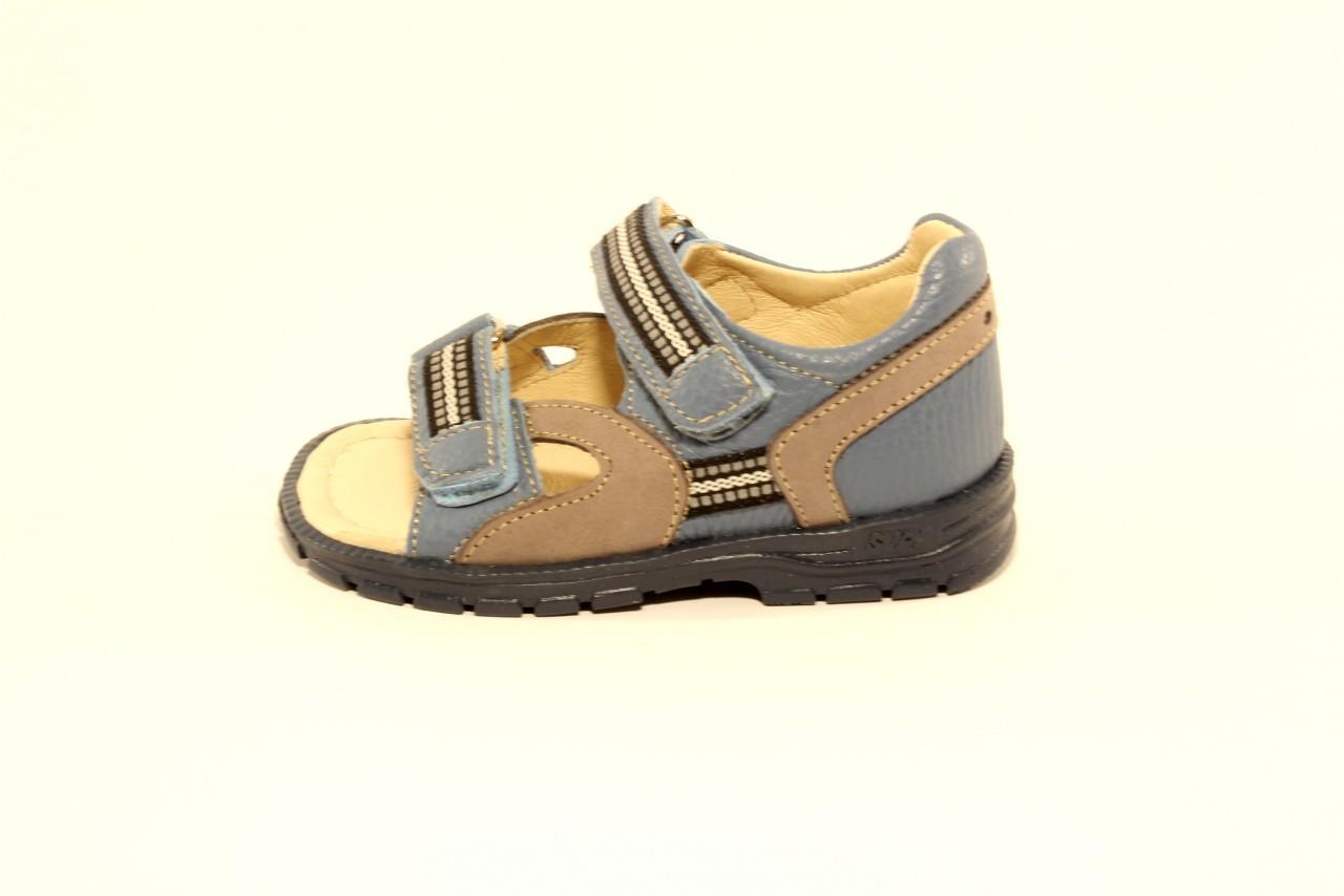 Supykids ROMI detské supinované sandále na suchý zips modro-sivé 20-30