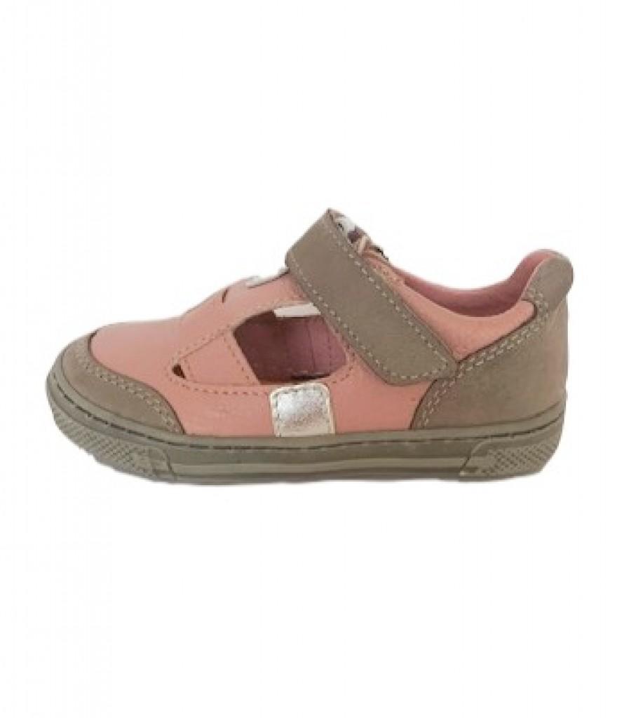 Supykids BALI detské  dievčenské sandáleobuv na suchý zips ružovo-sivo  20-30