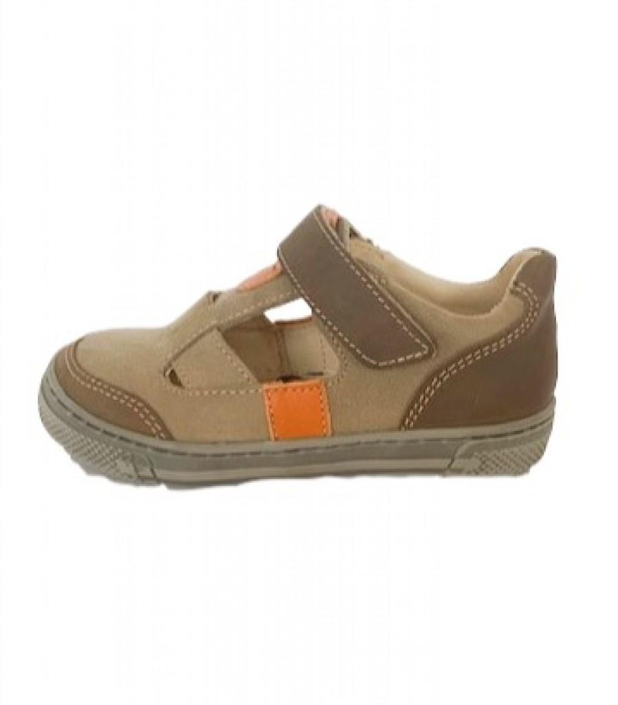 Supykids BALI detské  chlapčenské  sandáleobuv na suchý zips hnedé-béžové 20-30