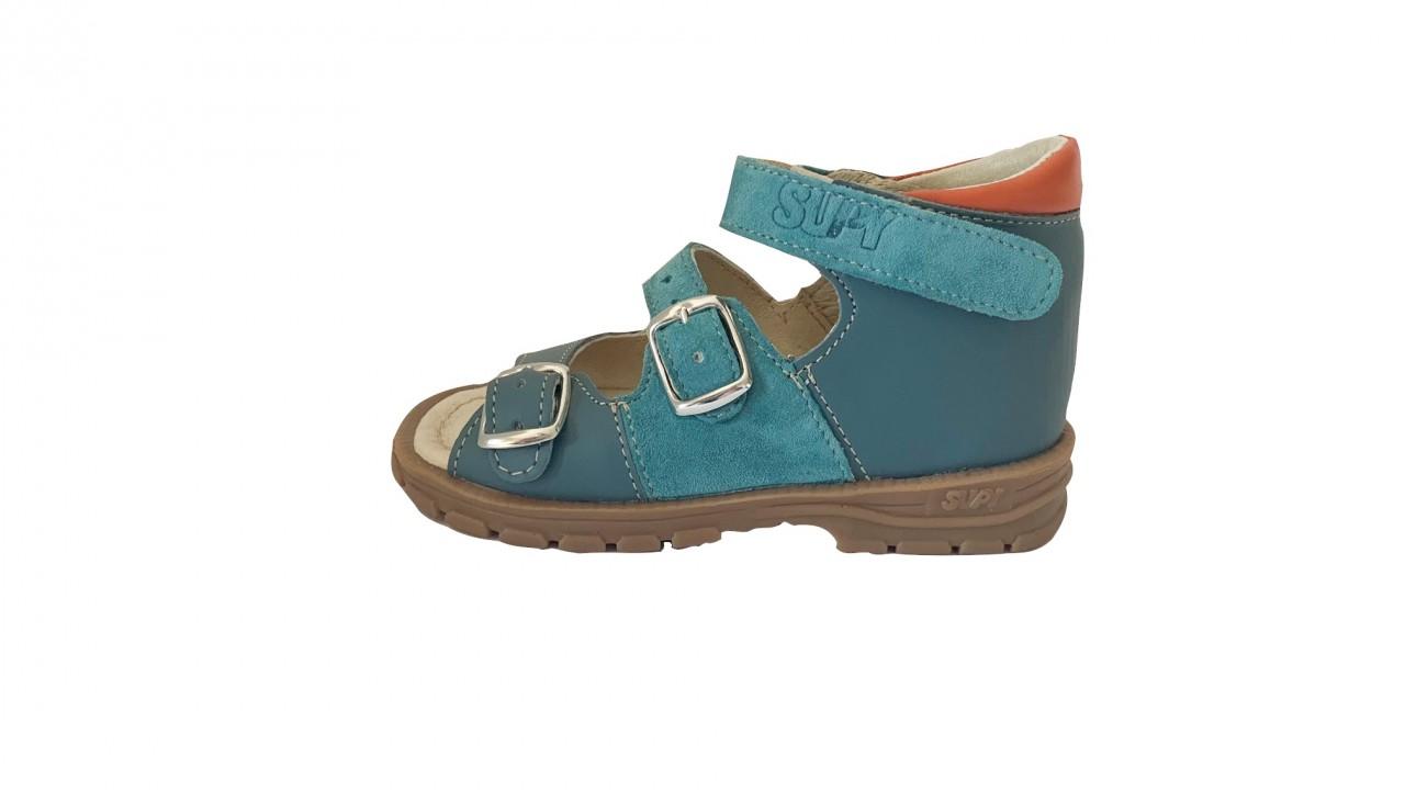 Supykids SOMA detské supinované sandále na suchý zips modré 20-30