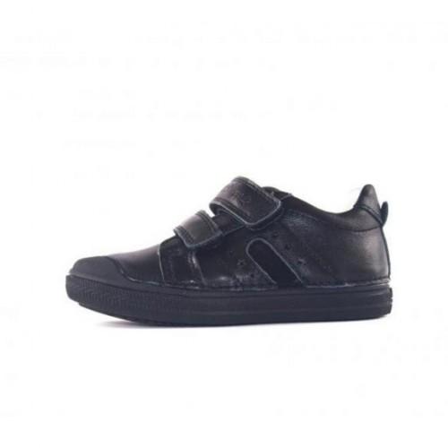 D.D.step čierno dievčenské detské topánky na suchý zips 31-36