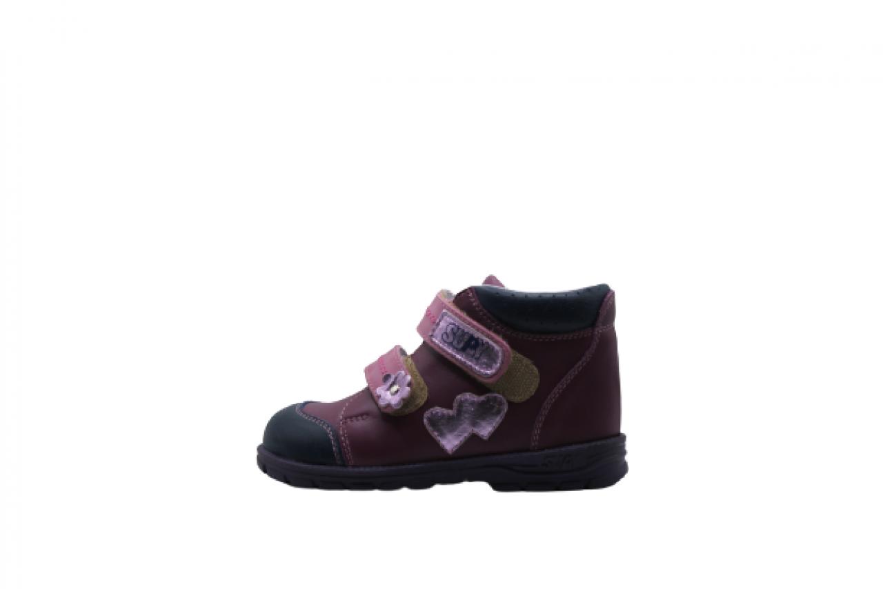 Supykids GABO detská supinovaná obuv so suchým zipsom fialová-ružovo 22-32