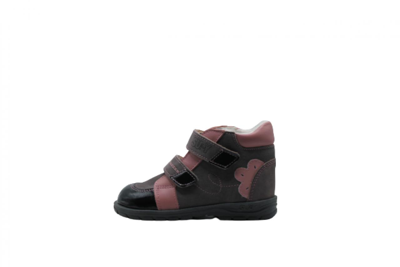 Supykids DORA šedo-ružové polstrované supinované topánky 22-32