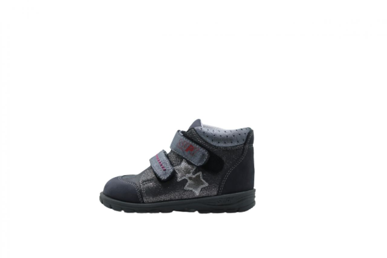 Supykids GABO strieborno-šedé dievčenské supinované topánky so suchým zipsom 22-32