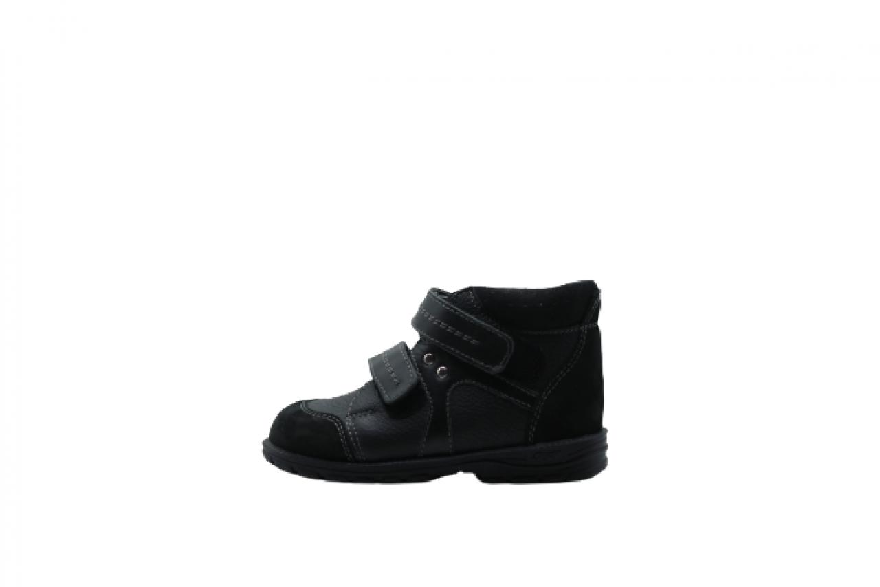 Supykids GABO Čierne unisex supinovaná detská obuv na suchý zips 22-32