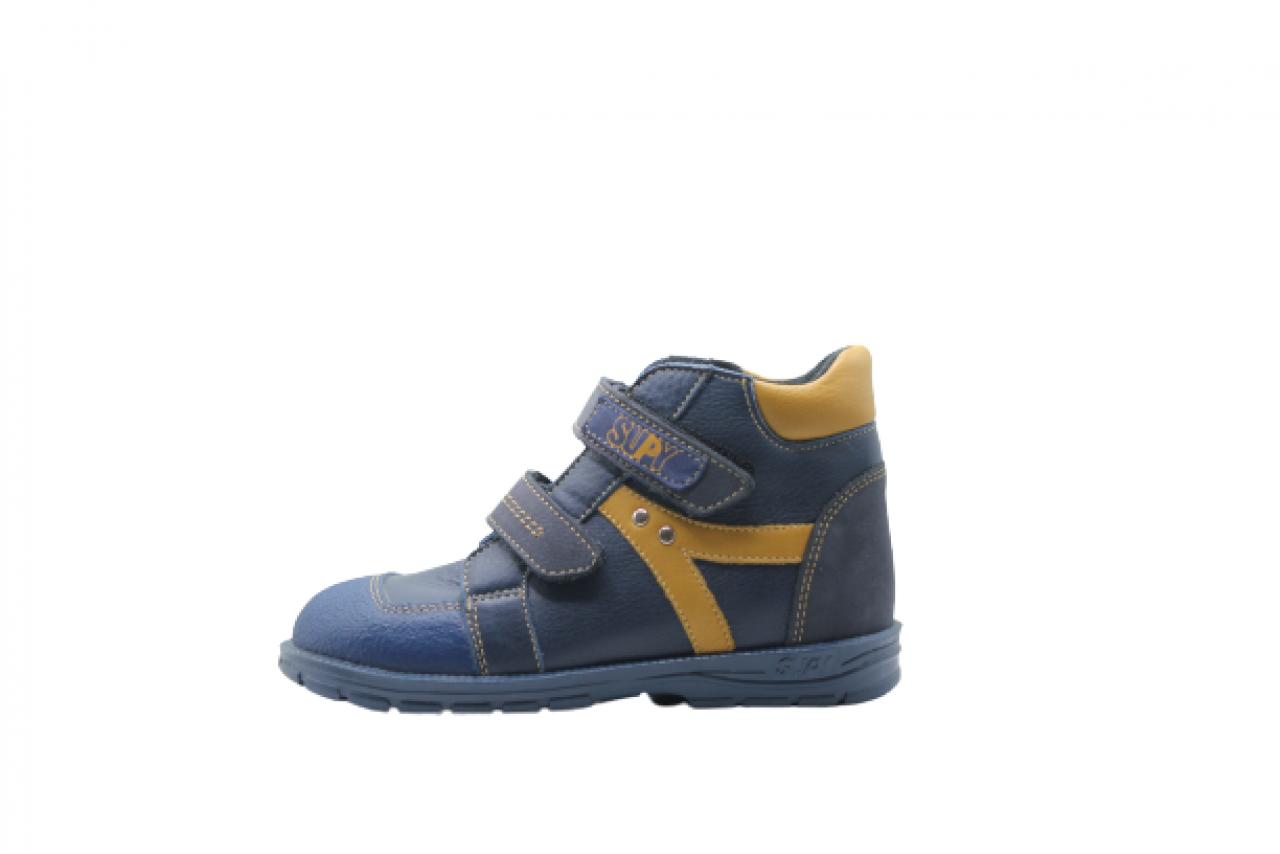 Supykids HUGO modré polstrované supinované detské topánky na suchý zips 22-32